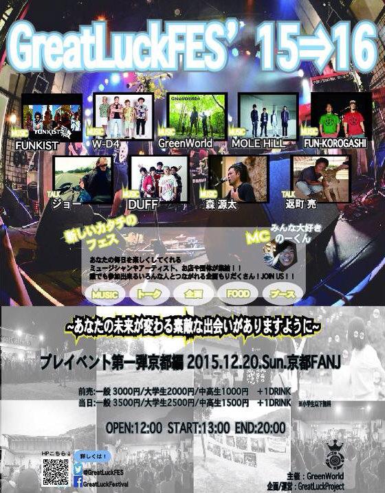 GreatLuckFES'15⇒16 プレイベント第1弾 in 京都 -あなたの未来が変わる素敵な出会いがありますように-